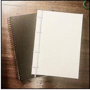 Picture of blank books